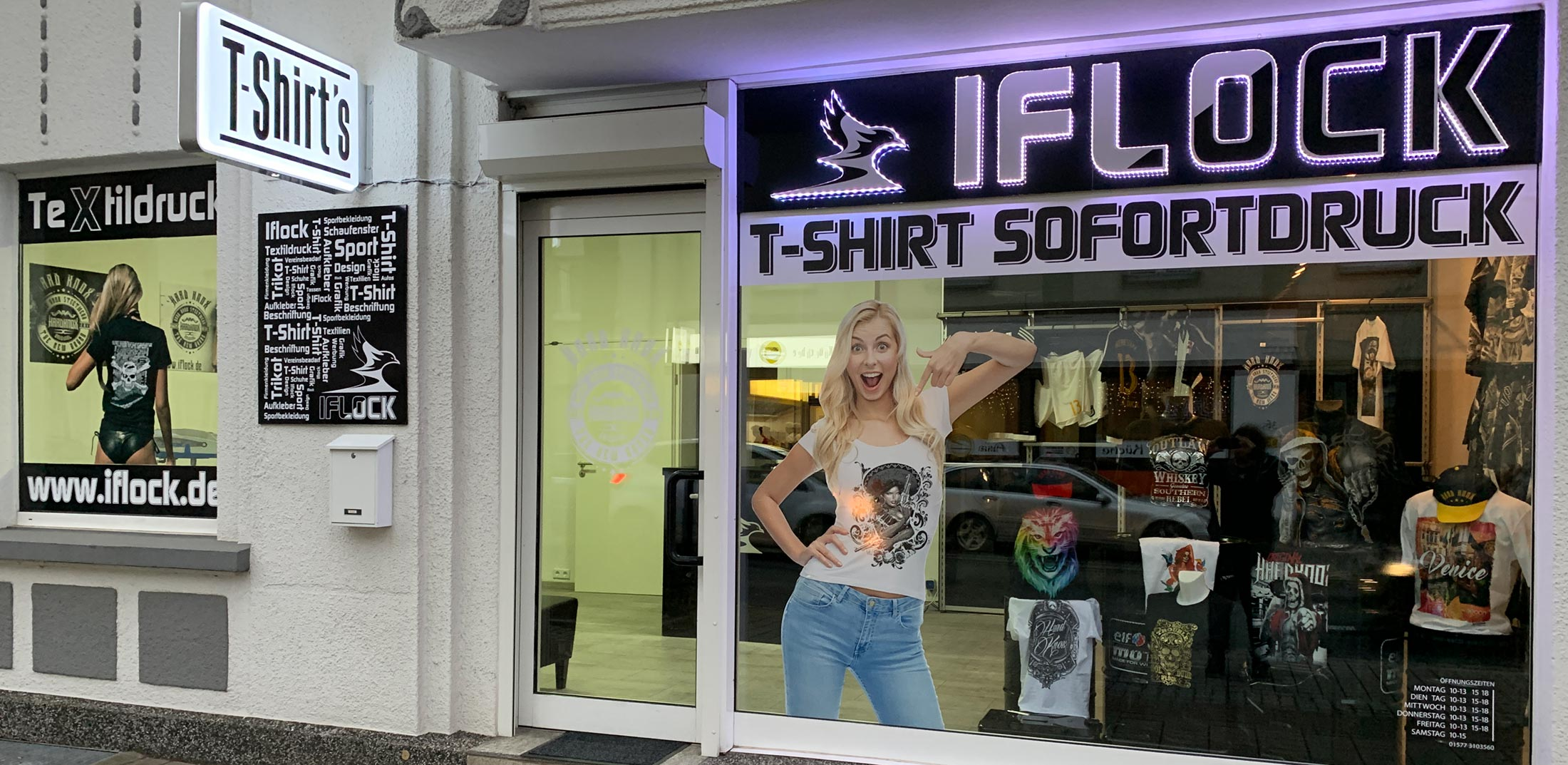 Iflock T-Shirt Druck