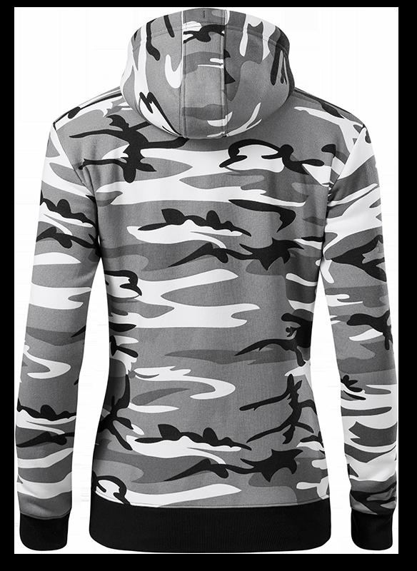 Hoody Grau Rücken