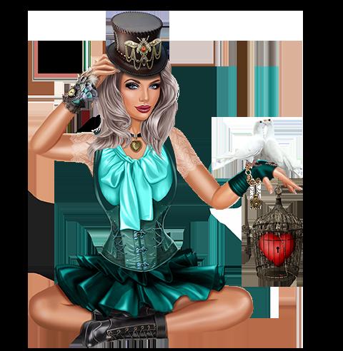 Mädchen Tauben