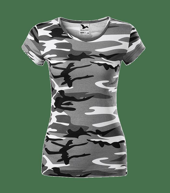 T Shirt Grau Brust min