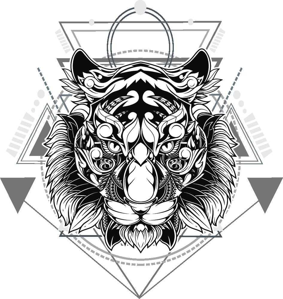 GEOMETRIC LION weiss